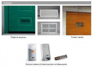 Portoni sezionali accessori